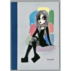 Journal - Girl (colourful background)